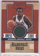 2010-11 Panini Classics Dress Code Jerseys Memorabilia #10 Brandon Jennings Card