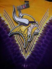 MINNESOTA VIKINGS  Tie Dye V Dye T-Shirt LICENSED APPAREL NFL 2 SIDED