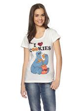 Mujer BARIO Sésamo Camiseta Monstruo de las galletas Camiseta Estampado