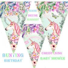 Bunting Unicorn, Birthday, Baby Shower, Christening Party Decor Garland, wedding