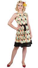 # Dancing Days Diamond Retrò Vintage Chiffon Dress Abito Rockabilly