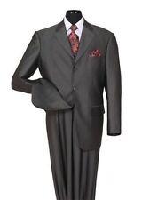 Milano Moda Men's 2-Piece 3 Button Elegant Wool-Feel Sharkskin Look Suit 58025