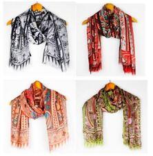 Silk Scarf Designer Style E192-194 Elegant Long Shawl Paisley Print Brand New