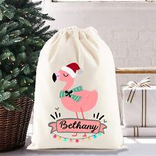 Christmas Santa Sack Gift Bag | Flamingo | Personalised