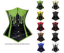26 Double Steel Boned Waist Training Genuine Leather Underbust Corset #8576-LE