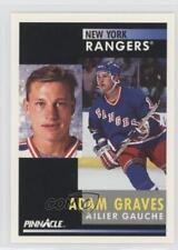 1991-92 Pinnacle French #16 Adam Graves Montreal Canadiens New York Rangers Card