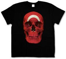 TURKEY TURKISH SKULL FLAG T-SHIRT - Istanbul Constantinople Türkiye Islam Muslim