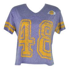 NBA UNK Los Angeles Lakers Women Ladies End Zone V-Neck Jersey Tshirt Tee