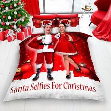 Noël Rouge Père Noël Selfie pour Noël ensemble de couette