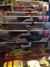 Disney Pixar Cars - twin packs - Lizzie Shu Rip Dinoco Mia Yokoza Mach Mater