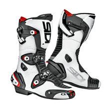 Sidi Mag-1 Air Racing Sports Morotbike Motorcycle Boots - White/Black