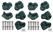 Heavy Duty plastica verde da Arrampicata Pietre Reggisella Arrampicata Parete punti d'appoggio Grip