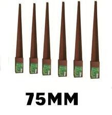 7.6cm 75mm Poste Valla Púa Soporte Rust RESISTENTE metal acero estacas GB