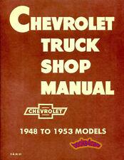 SHOP MANUAL CHEVROLET TRUCK SERVICE REPAIR BOOK RESTORATION 48-53