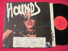 RARE ORIG HARD ROCK LP - HOUNDS - UNLEASHED - STOCK COPY DJ TIMING JC 35085