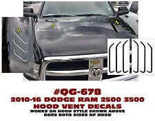 QG-678 2010-16 DODGE RAM TRUCK 2500-3500 HOOD VENT ACCENT DECALS