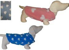 Dog Jumper HEART FLEECE Sweater Pullover Coat Vest XXS- XL pink blue sky blue