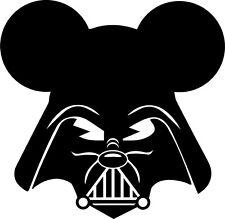 Darth Vader Mickey Mouse Star Wars Walt Disney Vinyl Decal sticker Force Awakens