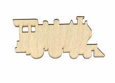 Train Engine Unfinished Wood Shape CutOut TE4012 Crafts Lindahl Woodcrafts