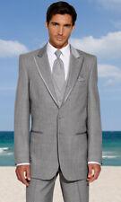 Tuxedo Grey Parisian Coat and Adjustable Pants Pinstripe Steampunk Cosplay Dance