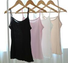 Thin 100% Pure Knit Silk Camisole Tank Top Vest Shirt Sleepwear Spaghetti Strap