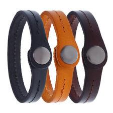 Fashion Men Handmade Genuine Leather Bracelet Bangle Wristband Wrap Cuff Clasp