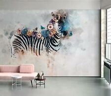 3D Butterfly Zebra 55 Wall Paper Exclusive MXY Wallpaper Mural Decal Indoor AJ