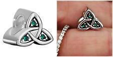 Irish celtic Knot Emeral Green Claddagh irish charm F/European Bracelet Necklace