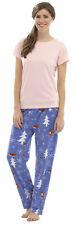 Ladies Tom Franks Animal Print Winter Long Pyjama pajama Sleepwear