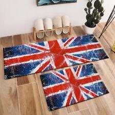 Painted Concrete Wall Graffiti UK Flag Area Rugs Bedroom Living Room Floor Mat