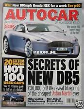 Autocar 24/4/2002 featuring Jaguar X-type, TVR Griffith