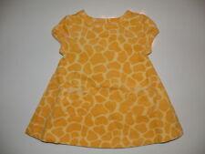 GYMBOREE BABY GIRAFFE YELLOW GIRAFFE SKIN WOVEN DRESS 0 3 6 12 18 24  NWT