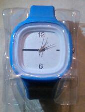 Blue & White Rubber Analog Fashion Wrist Watch