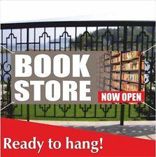 Book Store Now Open Banner Vinyl / Mesh Banner Sign Bookshop Bookstall Bookstore