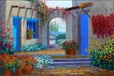 Ceramic Tile Mural Backsplash Senkarik Southwest Courtyard Art MSA087