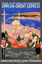 1921 Orient Express Londra a Istanbul Costantinopoli ferroviaria POSTER A3 stampa