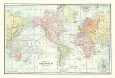 Old World Map - Cram 1898 - 23 x 33.94