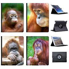 Azzumo Orangutan Monkey Primates Animal Faux Leather Case Cover for Apple iPad