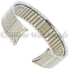 14mm Speidel Silver Stainless Steel Twist-O-Flex Curved End Watchband 2191