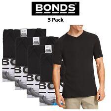 Mens Bonds Genuine Raglan V-Neck Short Sleeve 5 PACK T-Shirt Top Tee Cotton M976