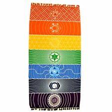 Serviette plage bohème ronde Hippie Tapestry Throw Châle Mandala roundie Picnic