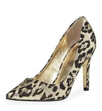 NIB $120 Adrianna Papell Adrianna Leopard-Print Pump Gold Cayan Metallic 6 8 8.5