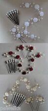 Kopfschmuck, Haarschmuck, Haardraht, Haarranke, Hochzeit,Rosen&Perlen 15 Tlg.