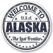 2 x USA Alaska Adesivo Vinile Portatile da Viaggio Bagaglio Auto #5220
