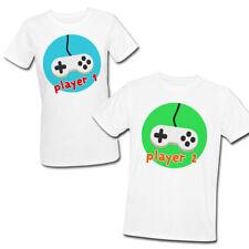 T-shirt di coppia lui e lei Player 1 Player 2 giocatori videogames videogiochi