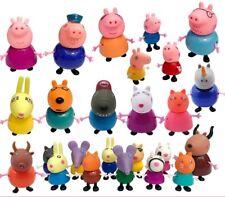 25X Peppa Pig Figuren Papa Mama Schorsch Wutz Familie&FreundeSpielzeug Geschenk