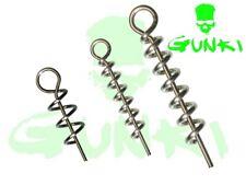 Gunki Cork Screws for Soft Bait Lure 5Pcs Corkscrew All Sizes Pike Lure Fishing