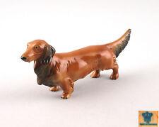 Porcelain Figurine Wagner & Apel Longhair - Dachshund Dog 8 5/16x3 1/2in 9942144