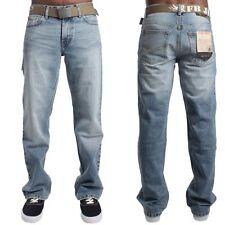 Hommes FBM Coupe bottillon Jeans Mode - FMB15 Bleu Clair décoloré