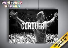 Poster Arnold Schwarzenegger Conquer Bodybuilding Wall Art